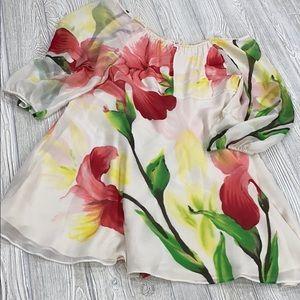 Alice + Olivia Silk Floral Iris Dress - sz M